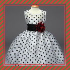 Flower Girl Princess Polka Dot Dress Kids Baby Pageant Party Wedding Birthday**