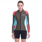 1.5mm Neoprene Jacket for Women Surfing Snorkeling Front Zipper Wetsuit Tops