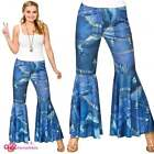 Womens 1960's Funky Jeans Hippie Hippy Retro Pants Flares Fancy Dress Accessory