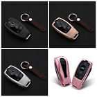 Fob Cover For Mercedes E Class Remote Key Aircraft Aluminum Case + Real Leather