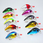Topwater Wobbler Fishing Lures Small Fat Bait Crankbait 3cm/1.5g Tackle