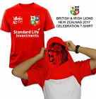 BRITISH & IRISH LIONS RUBGY T -SHIRT NEW ZEALAND 2017 TOUR