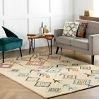 nuLOOM Hand Made Bohemian Geometric Diamond Wool and Viscose Area Rug in Ivory