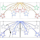 Large Animated LED Star Burst Display Rope Light Silhouette Christmas Decoration
