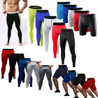 Mens Base Layer Tights Short Sport Compression Body Fit Under Thermal Long Pants