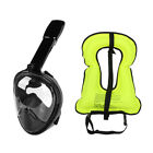 LeaningTech Full Face Scuba Snorkel Mask with Life Vest Surface Diving For GoPro