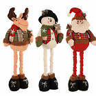Standing Santa Snowman Reindeer in Red and Green Tartan with Extendable Legs