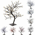 Pre-Lit Illuminated Cherry Blossom Tree 96 LED 2ft White Blue Red Pink Multi