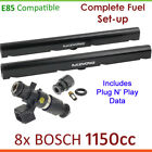 8x BOSCH 1150cc E85 Injectors & Fuel Rail Set-up For Holden Monaro CV8 CV8-R VZ