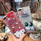 Cute Hello Kitty Bling Flowing Liquid Giltter Case Cover for iPhone 6 6S 7 Plus