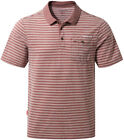 Craghoppers Mens Nosilife Casual Hike Walk Summer T-shirt Gilles Polo in Red