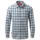 Craghoppers Mens Nosilife Prospect Checked SUMMER Shirt in Blue WALKING HIKE
