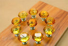 10pcs Transparent Pull Handle Crystal Glass Ball Cabinet Drawer Door Knob KB012