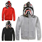 Bape Jacket Mens SHARK Head FULL ZIP HOODIE Sweater Bathing Ape Coat Man New