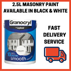 Granocryl 2.5L Masonary Paint Smooth Outside Available In Black And White Cheap