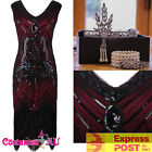 Ladies Deluxe 1920s Roaring 20s Flapper Costume Pearls Sequin Outfit Fancy Dress