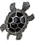 Turtle pin brooch pendant bling antique jewerly QBA15 gifts for women Mom's day