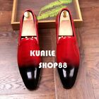 Fashion mens dress formal loafer patent leather business hairstylist shoes New