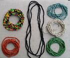 FA01 2 to 3mm double wrap or single layer knot boho gypsy long beaded necklace