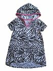 Op Baby Girls Zebra Beach Hooded Swim suit Cover up Xs - Xl slip on