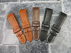 New 24mm Soft Cow Leather Strap Black Brown Deployment Watch Band PAM 1950 Z
