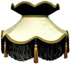 Cream & Black Victorian Lampshade Table Lamps Ceiling Lights Standard Lampshades