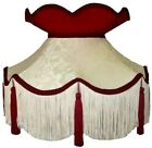 Cream & Red Victorian Lampshades Table Lamps Ceiling Lights Standard Lampshades.
