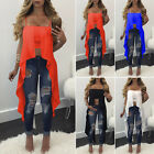New Women Loose Casual Sleeveless Crop Tops Spaghetti Strap Shirts Blouse Summer
