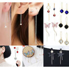 bling earrings - Fashion New Women Bling Ball Earrings Long Chain Drop Dangle Earrings Jewelry