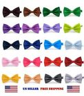 Внешний вид - BOW TIE MENS ADJUSTABLE SOLID COLOR WEDDING TUXEDO NECKTIE US SELLER Free Ship