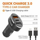 vius 54W 3-Port Quick Charge 3.0 USB Car Charger [Silver][Black] iPhone Android