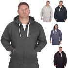 Mens Casual Hoody Track Top Plain Zipped Sweatshirt Jacket Hoodie Plus SMALL-6XL