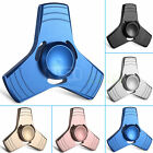 Tri Fidget Hand Spinner Triangle Brass Metal Finger Toy EDC Focus ADHD Autism