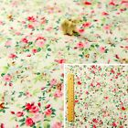 160CM WIDE GREEN PINK Fat Quarter/Meter/Square 100% Cotton Fabric Craft Sew Rose