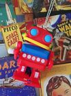 VINTAGE 50S KITSCH STYLE SPACE AGE MOVING ROBOT TOY CHARM NECKLACE PENDANT