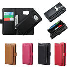 PU Leather Clutch Purse with Magnetic Detachable Wallet Case for Samsung S7Edge