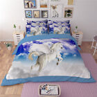 Horse Single Queen King Size Quilt Duvet Doona Cover Set Sheet Fitted Unicorn