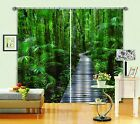 3D Wood Trees 2 Blockout Photo Curtain Printing Curtains Drapes Fabric Window AU