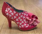 Irregular Choice Hook Line And Sinker Red (U) Stiletto Heel Shoes