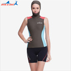 Women Thermal Hooded Wetsuit Vest Surf Sleeveless 1.5mm Surfing Watersports