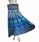Peacock Indian Bollywood Wrap Cotton Long Skirt RAPRON Gypsy Around Women Hippie