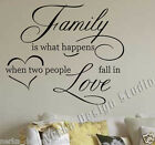 WALL QUOTE FAMILY LOVE WALL STICKER  Wall Art Decal WALL QUOTES STICKERS V35