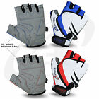 Men Cycling Half Finger Gel Padded Fingerless Gloves Bike Running Mountain Glove