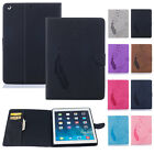 Premium Magnetic Flip Stand Cover Leather Case Card Slot Holder For Apple iPad