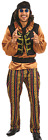 Mens 6 Piece Rock Star Hippie 1960s 60s Party Fancy Dress Costume Outfit M L XL