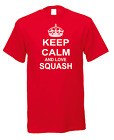Keep Calm And Love Squash Racket Ball Court Player Game Sport T-Shirt