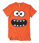 COOKIE MONSTER SMILEY FACE T-SHIRT S-2XL NEON 4 COLOURS HOLIDAYS RAVE TECHNO