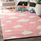 nuLOOM Hand Tufted Cloudy Sachiko Pink Color Kids Area Rug