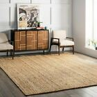 Kyпить nuLOOM Hand Made Contemporary Modern Simple Braided Jute Area Rug in Natural Tan на еВаy.соm