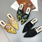 Womens New Casual Flip Flops Flat Embroidery Pointed Toe Occident Loafers Shoes